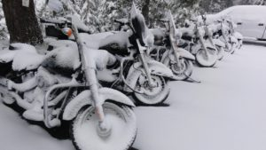 Ride Your Motorcycle In Snow